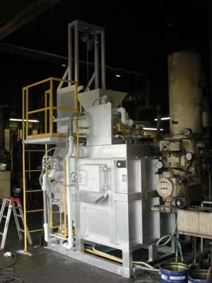 ALS型連続溶解保持炉の写真